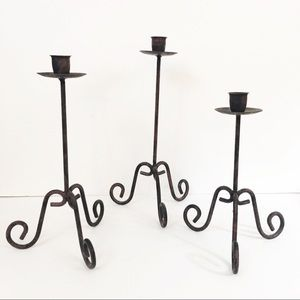 Accents - Wrought Iron Candle Sticks